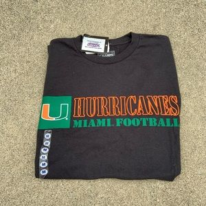 Men's Miami Hurricanes Football Champs T Shirt NWT